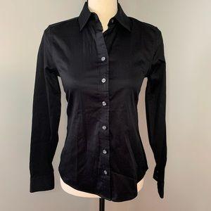 Banana Republic black fitted button down shirt